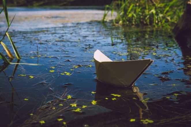 stationary boat